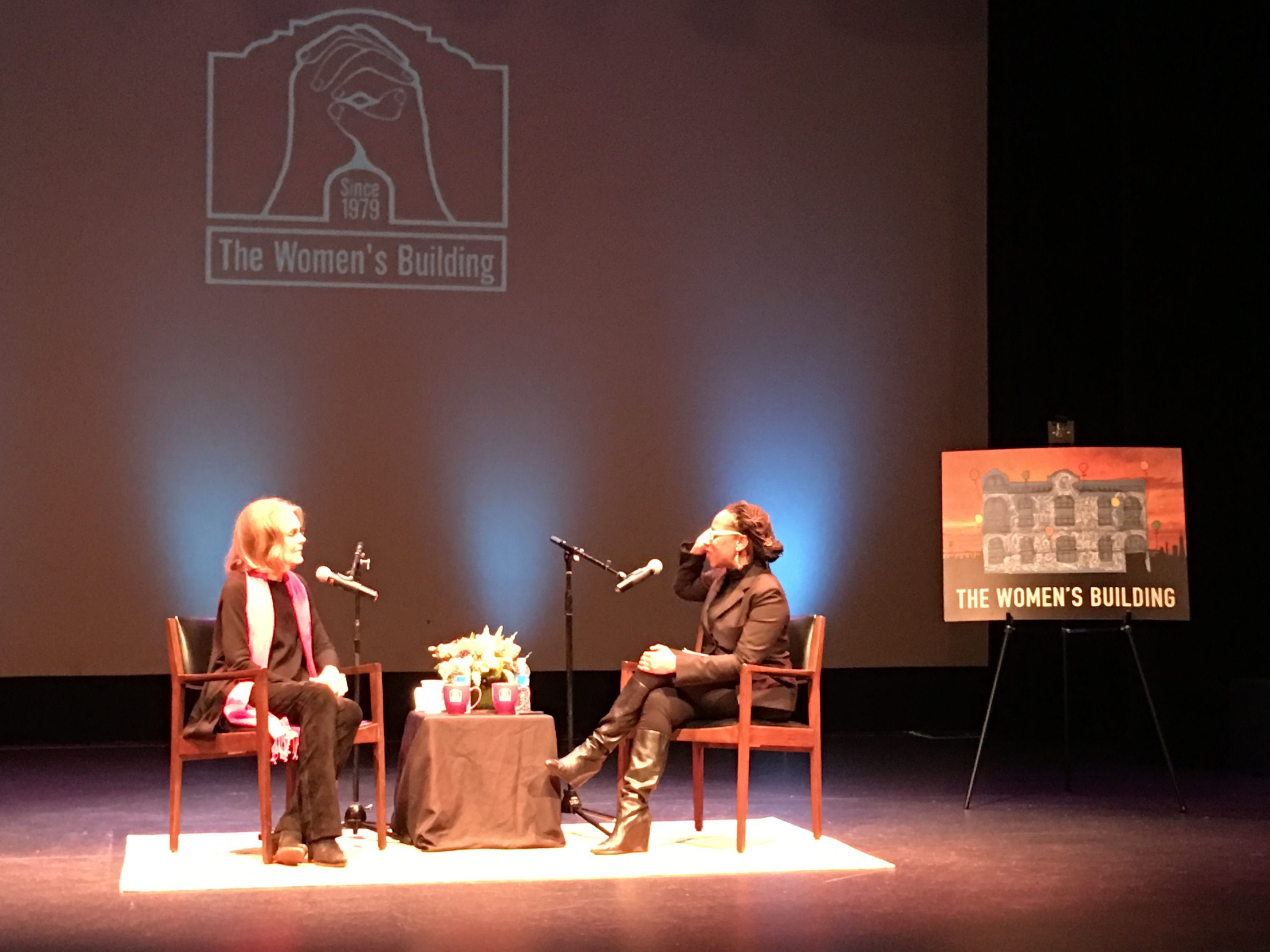 Gloria Steinem and Lateefah Simon March 6, 2017