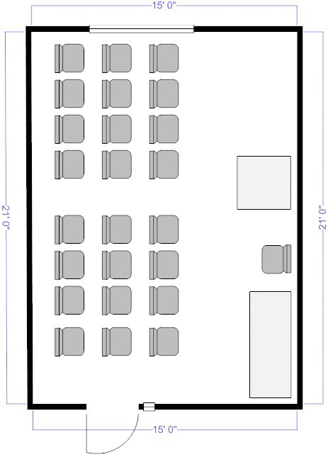 Room B_25chairs_layout